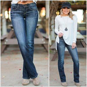 Denim - Dark Denim Bootcut Jeans